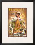 Hawaii  United Air Lines  Hula Dancer