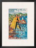 United Airlines New England  c1940