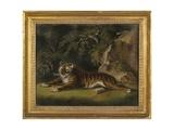 Tiger in a Jungle Landscape