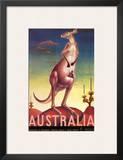 Australia  Airline & Travel Kangaroo c1957