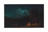 Mountainous Landscape by Moonlight