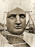 The Construction of the Statue of Liberty  Detail of the Face  C1876