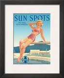 Santa Fe Railroad: Sun Spots in the Southwest  c1950s
