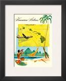 Hawaiian Airlines  Travel Brochure  c1950s