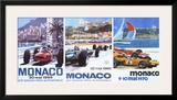 65  66  70 Monaco Grand Prix 3 in 1 Poster