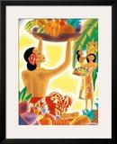 The Hawaiian Abundance  Menu Cover  c 1930s