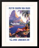 Fly to the South Seas Isles  via Pan American Airways  c1940s