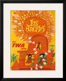 Fly TWA Los Angeles c1959