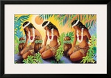 The Sun at the Source of Life  Hawaiian Hula Girls