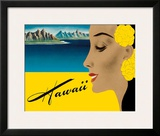 Ocean Liner to Hawaii - Luggage Decal  c1940s