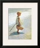 Young Girl on a Beach
