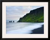 Black Sand Beach and Reynisdrangur Sea Stacks  Vik  Cape Dyrholaey  South Coast  Iceland