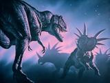 Daspletosaurus Attacking Styracosaurs