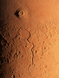 Gusev Crater And River  Mars