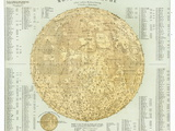 19th Century Map of the Moon