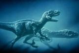 Art of Two Megaraptor Dinosaurs