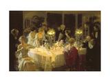 Le dîner de fête Giclée premium par Jules-Alexandre Grün