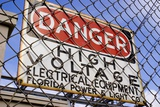 Danger High Voltage Sign In Cocoa Florida