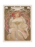Reverie, c.1897 Giclée premium par Alphonse Mucha
