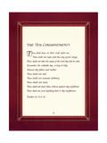 Les Dix Commandements Giclée premium