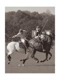 Polo dans le parc I Giclée premium par Ben Wood