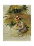 Young Woman Reading Giclée par Pierre-Auguste Renoir