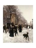 Promenade on a Winter Day  Brussels