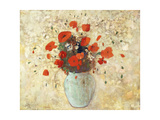 Vase of Poppies Giclée par Odilon Redon