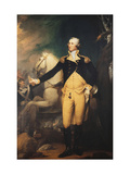 Portrait of General George Washington (1732-1799) at the Battle of Trenton