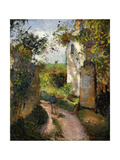 Peasant on an alley by a House  Pontoise