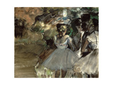 Three Dancers in the Wings Giclée par Edgar Degas