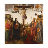 The Crucifixion with the Madonna  Saints John the Baptist  Mary Magdalen  Andrew and Francis