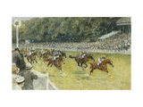 A Finish at Goodwood Giclée par Gilbert		 Holiday