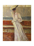 Madame Helleu on the Yacht Etoile