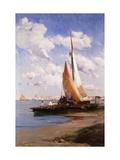 Fishing Craft with the Rivere degli Schiavoni  Venice  beyond