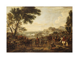 King William III and his Troops preparing for a Battle