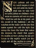 Game Of Thrones (Season 3 - Nightwatch Oath)