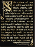 Game Of Thrones (Season 3 - Nightwatch Oath) Tableau sur toile