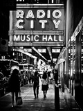 Urban Scene  Radio City Music Hall by Night  Manhattan  Times Square  New York  Classic
