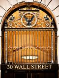 Nysc 30 Wall Street Building, Financial District, Manhattan, New York City, US, USA, Vintage Colors Papier Photo par Philippe Hugonnard