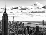 Skyline with the Empire State Building and the One World Trade Center, Manhattan, NYC Papier Photo par Philippe Hugonnard