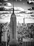 Cityscape, Empire State Building and One World Trade Center, Manhattan, NYC Reproduction d'art par Philippe Hugonnard