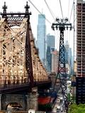 Roosevelt Island Tram and Ed Koch Queensboro Bridge (Queensbridge) Views  Manhattan  New York  US