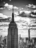 Cityscape Skyscraper  Empire State Building and One World Trade Center  Manhattan  NYC