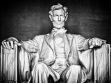 Statue of Abraham Lincoln  Washington DC  District of Columbia  White Frame  White Frame