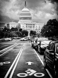 Bicycle Path Leading to the Capitol  US Congress  Washington DC  District of Columbia