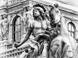 Museum of the Louvre  Statue Equestrian of Louis XIV  Paris  France