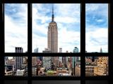 Window View, Special Series, Urban Skyline, Empire State Building, Midtown Manhattan, NYC Papier Photo par Philippe Hugonnard