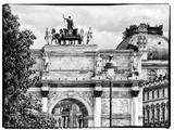 Arc De Triomphe du Carrousel  the Louvre Museum  Paris  France