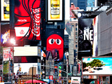 Advertising on Times Square  Manhattan  New York City  United States